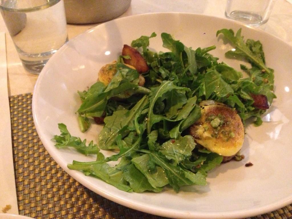 Diver scallop salad after a few bites! Sorry!
