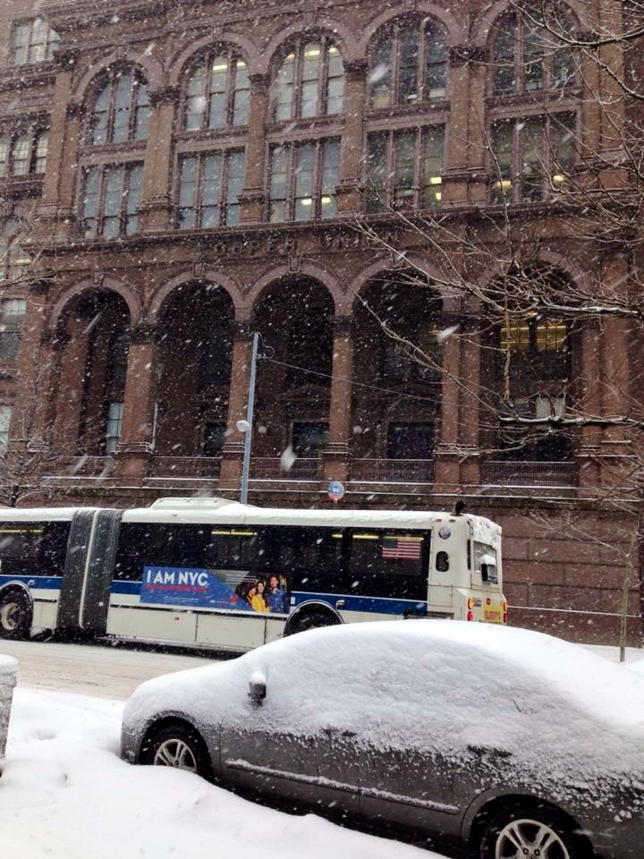 Off Astor Place. Cooper Union Building. That car was under a snow bank for days I later learned.