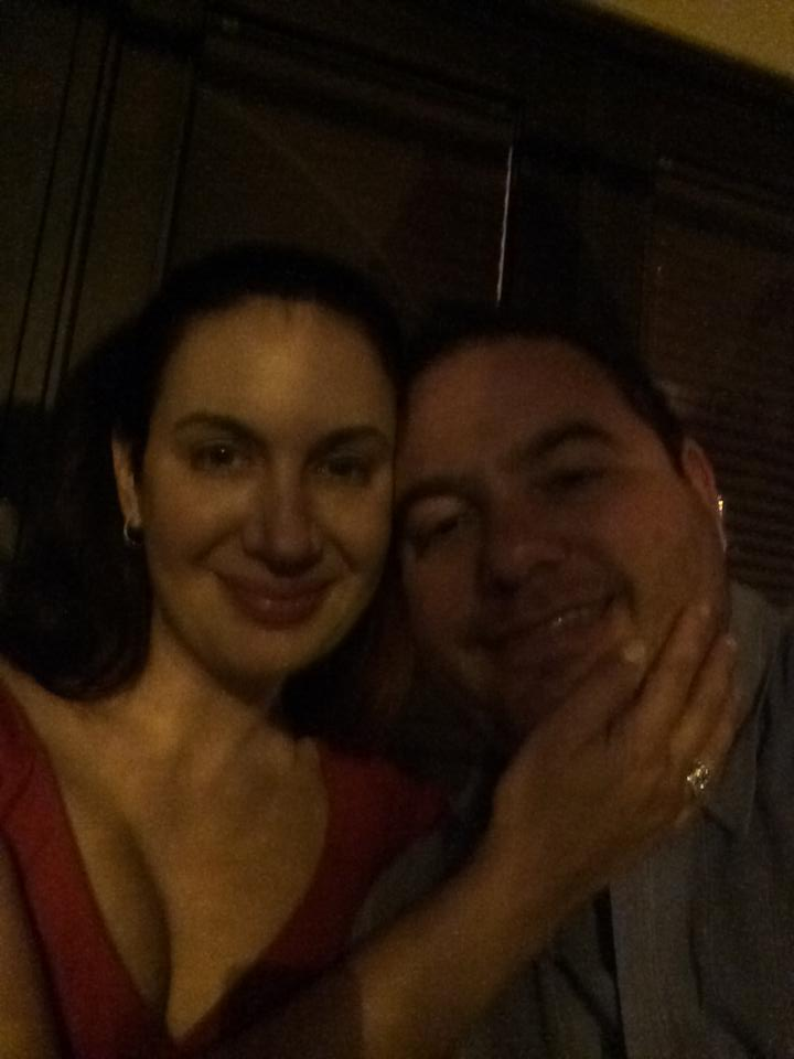 Dark picture from last weekend at my sister's 60th. But I love this picture