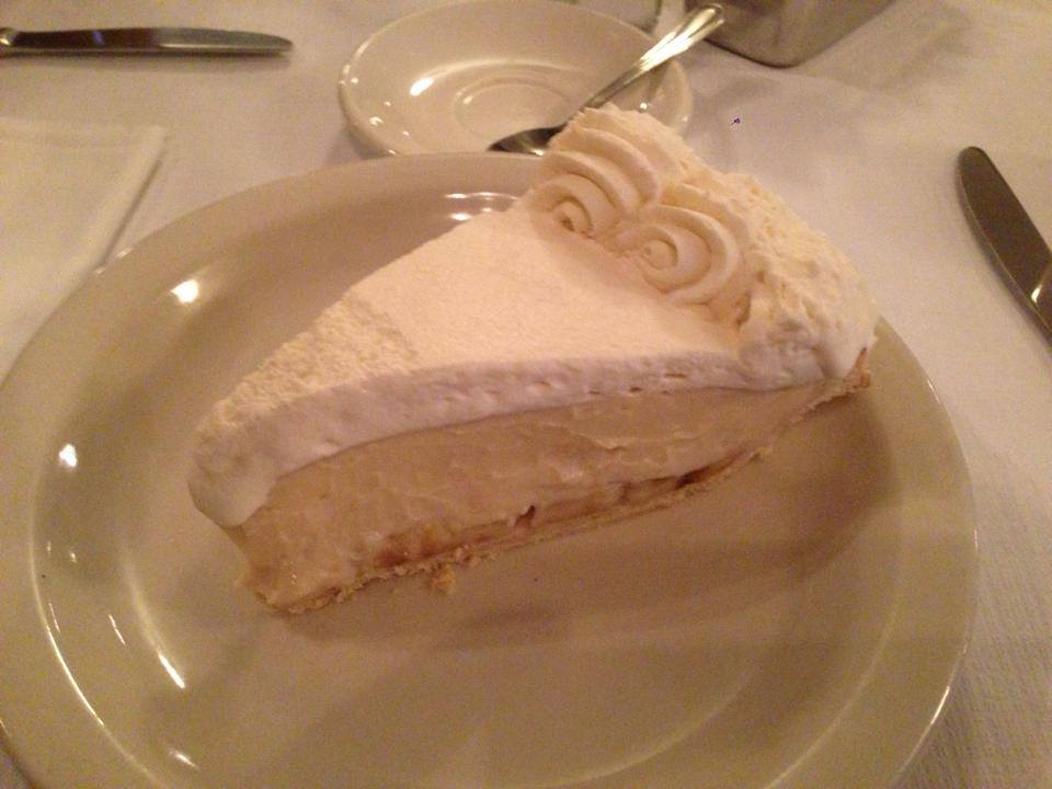 Banana cream pie at Joe Allen. You CANNOT come to Manhattan and not stop in for this dessert.