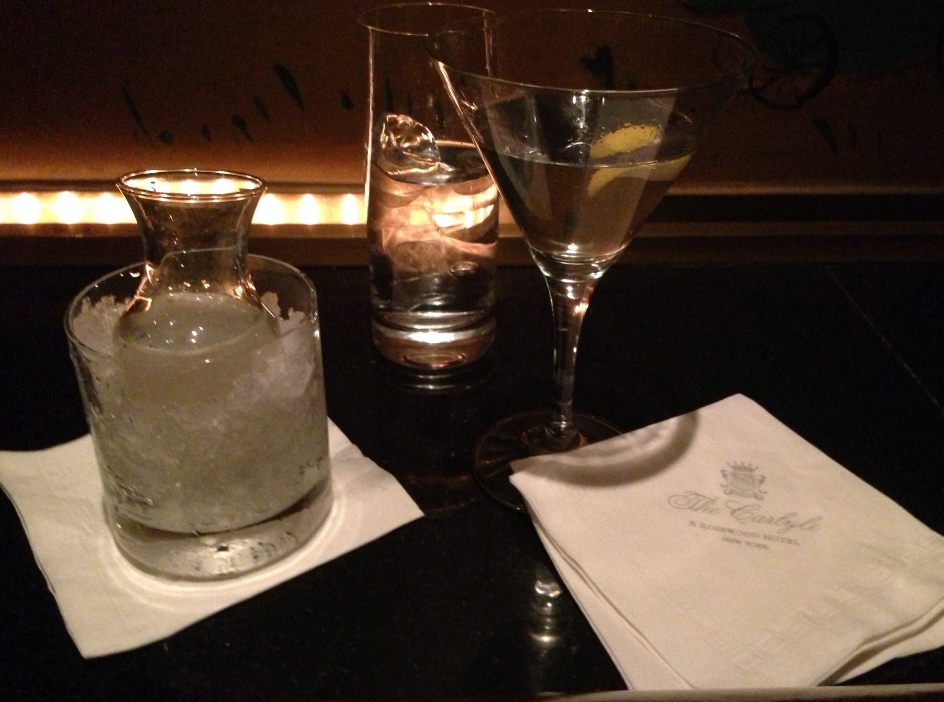 Perfect martini at Bemelman's (Carlyle Hotel)