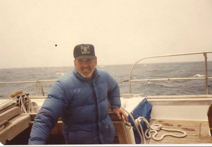 Dad in the early 1980s. On our CT 54, The Andrea.